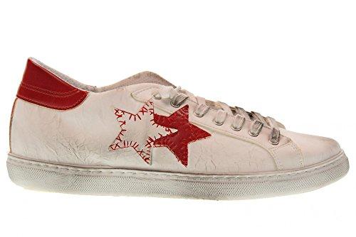 Alta Calidad Mejor Venta Al Por Mayor 2 STAR Scarpe Uomo Sneakers Basse 2SU 1801 Bianco/Rosso Bianco-rosso Venta Venta Barata Precio Barato De Descuento NlgqVYe