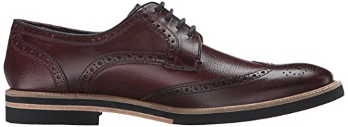 Ted Baker Mens Archerr 2 Oxford In Pelle Rosso Scuro