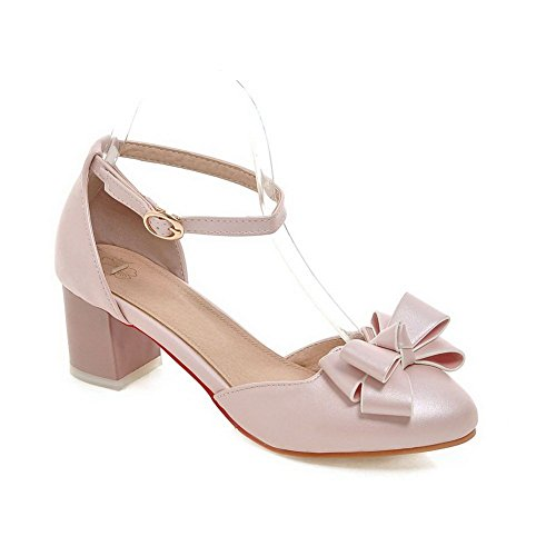 Adee Womens Bows Romanesque Style Polyurethane Pumps Shoes Pink 31qPJgoNM