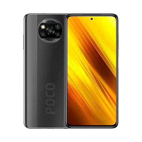 "POCO X3 NFC – Smartphone 6.67"" FHD+, 6 + 128GB, Snapdragon 732G, 64 MP con IA, Quad-cámara, 5160 mAh, color Gris sombra"
