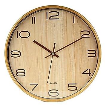 Wanduhr Holz Modern modern business holz wanduhr amazon de küche haushalt