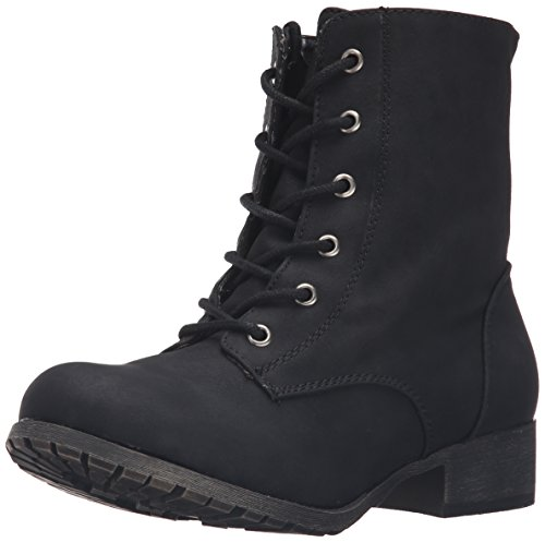 Jellypop Women's Freddy Engineer Boot - Black Distress - ...