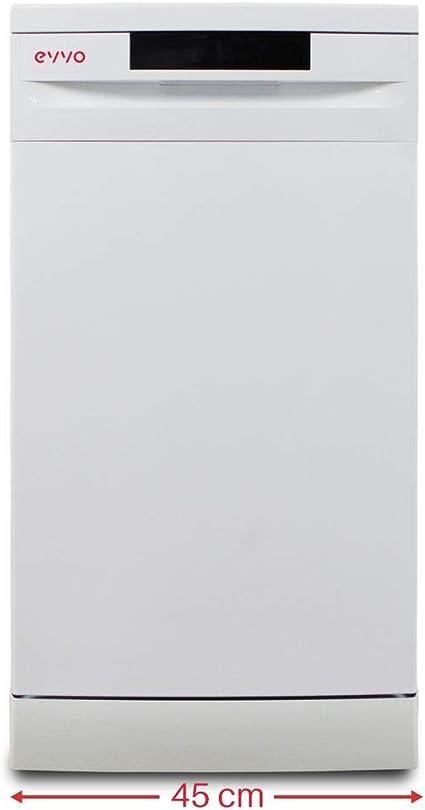 Lavavajillas Evvo D1 Slim 45cm clase A++: 299: Amazon.es: Grandes electrodomésticos