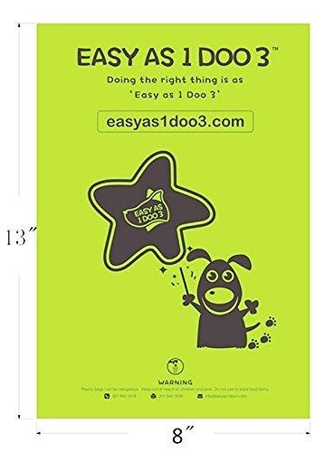 Easy As 1 Doo 3 Poop Bags Extra Large /& Strong 120 Standard Bags Mildly Lavender