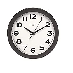 Howard Miller 625485 Kenwick Wall Clock, 13-1/2, Black