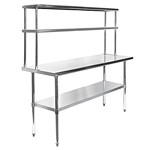 Stainless Steel Work Prep Table X With Adjustable Double - Stainless steel table 18 x 24