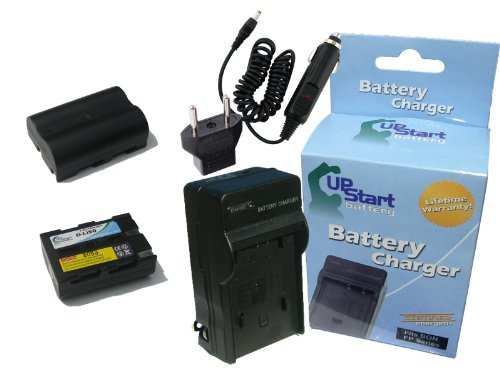 2x Pack - Konica Minolta NP-400 Battery + Charger with Car & EU Adapters - Replacement for Konica Minolta NP-400 Digital Camera Battery and Charger (1600mAh, 7.4V, Lithium-Ion) - Compatible with Pentax K10D, K20D, K10D Grand Prix, D-LI50, K10 (Battery 400 Camera Digital)