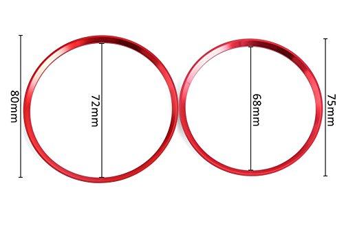 Emblem Trading Emblem Innenraum Set L/üftungs Ringe Rahmen Zierring F/ür A B GLA CLA W176 W246 X157 C117