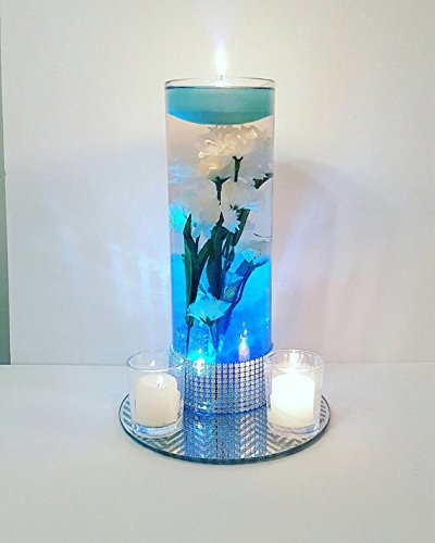 Decorative buckets aroma candles 12 scented floating candles ocean blue candles for decoration