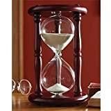Lily's Home Hourglass Sand Timer - 30 Minute Cherry Finish