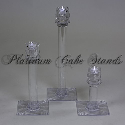 Cake Stand Candle Votive Set 3 Tier (STYLE 131) ()