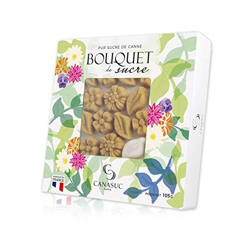 Canasuc Paris, Bouquet de Sucre, Pur Sucre de Canne, Assorted 84 MINI Molded Floral Sugars, Imported