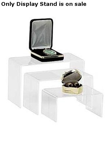 Retail Set of 3 Nested Acrylic Risers Small, Medium and Large