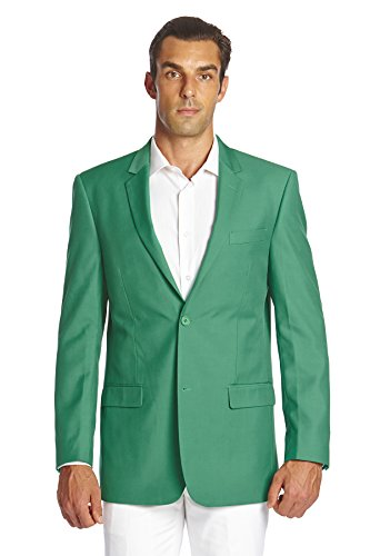 CONCITOR Men's Suit Jacket Separate Blazer Coat EMERALD GREEN Two Button 40L Masters Green Jacket