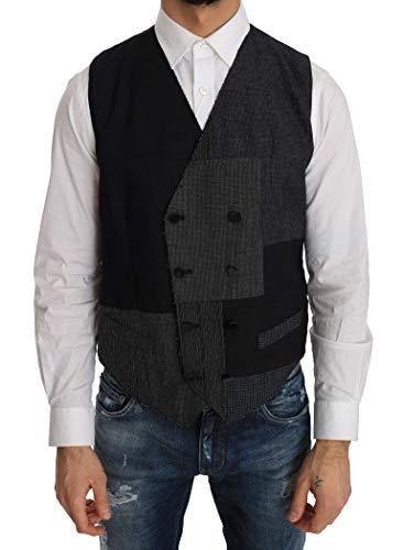 (Dolce & Gabbana Gray Black Wool Silk)