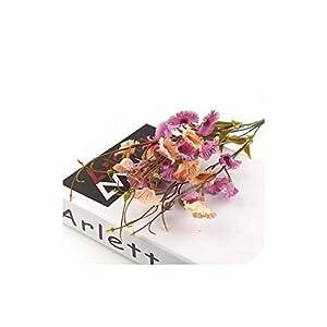 30 Heads Hyacinth 1 Bouquet Artificial Flowers Silk Wedding Decor Simulation Bouquet for Home Garden DIY Decorative Flowers,Purple 4