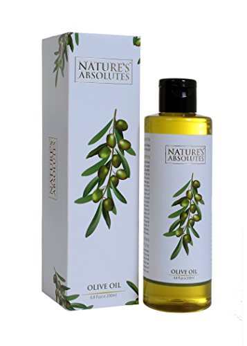 Nature's Absolutes Olive Oil - 6.8Oz/200 ml, 100 % Pure , Cold Pressed & Organic For Hair and (Olive Oil Cosmetics)