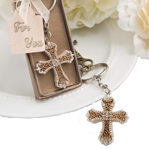 38 Vintage Design Cross Themed Key Chains Religious Favors