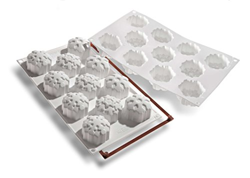 Silikomart SF115 Silicone Let's Celebrate Bakeware Collection Multi Cake Pan, Snowflakes