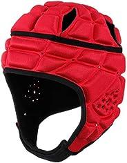Surlim Rugby Helmet Headguard Headgear for Soccer Scrum Cap Head Protector Soft Protective Helmet for Kids You