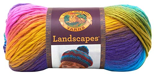 Lion Brand Yarn  545-201 Landscapes Yarn, - Free Chunky Patterns Knitting Yarn