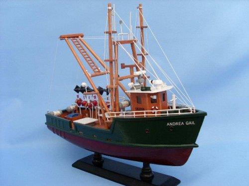 Hampton Nautical  Andrea Gail The Perfect Storm 16'' Hampton Nautical Model Ship, Fully Assembled (Not a Kit)