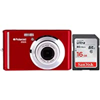 Polaroid iE826 Digital Camera, 18MP 8x Optical Zoom w/ 2.4 Display 16GB Bundle