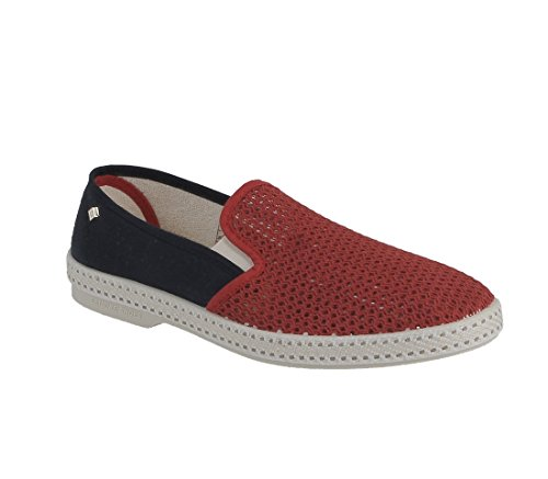 Rivieras Mens Cruises France Slip Ons Rosso Rosso