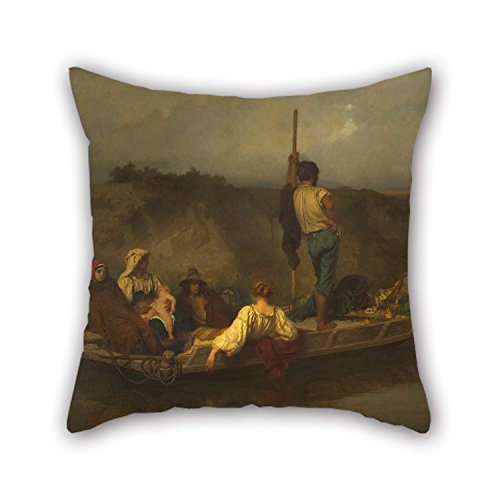 Pillow Cases Of Oil Painting Ernest H??bert - The Mal'aria 18 X 18 Inches / 45 By 45 Cm Best Fit For Divan Chair Gril Friend Office Outdoor Wedding Two - Show Fashion Mal