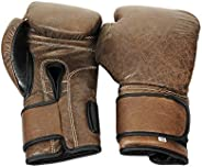 RAY'S Vintage Brown Leather Boxing Gloves, Hand Mo
