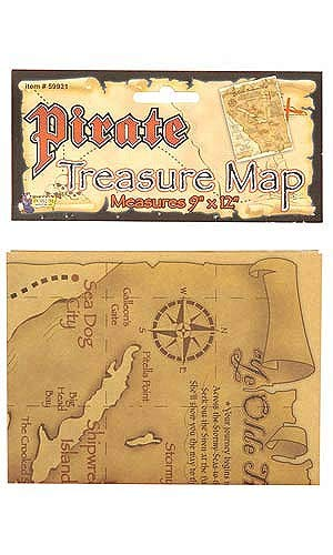 Forum Novelties Pirate Treasure Map Costume Accessory One Size -