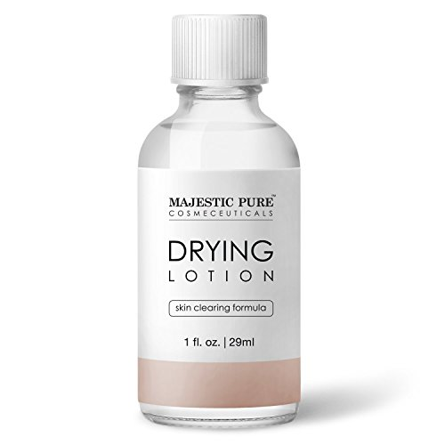 Majestic Pure Drying Lotion, Acne Care and Pimples, Skin Clearing Formula, Bye Bye Blemish, 1 fl. oz.