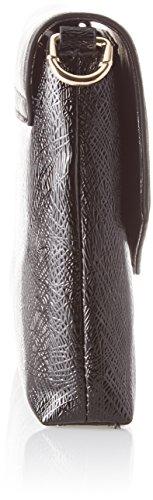 Trussardi Jeans Red Carpet, Borsa a Tracolla Donna, Nero, 24x14.5x5 cm