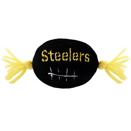 - Pets First NFL Pittsburgh Steelers Catnip Toy in Football Shape with Team Logo in Vibrant Team Color