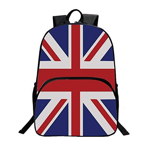 Union Jack Fashionable Backpack,Classic Traditional Flag United Kingdom Modern British Loyalty Symbol Decorative for Boys,11.8