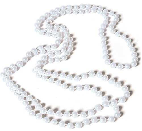 Rubies Costume White Flapper Necklace