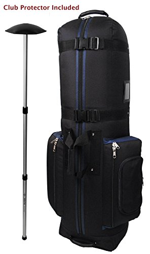 CaddyDaddy Golf CDYCON2NP  Constrictor with North Pole Club Protector Golf Bag Travel Cover, Black/Navy (Golf Club Caddy)