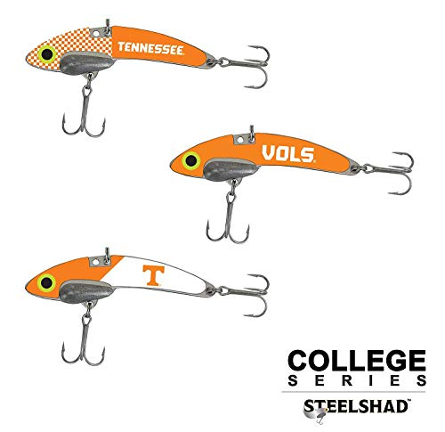SteelShad - Tennessee Vols - 3 Pack Fishing Lures - Lipless Crankbait for Freshwater Fishing - Long Casting Blade Bait Perfect for Bass, Walleye, Trout