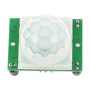 eDealMax Ajuste del Sensor de movimiento de infrarrojos piroeléctrico Detector PIR del módulo HC-SR501