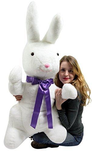 - Big Plush American Made Giant Stuffed Bunny White Soft 42 Inch Rabbit
