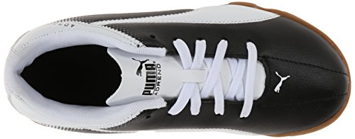 PUMA Adreno Indoor Jr Soccer Shoe Black/White cr4kq