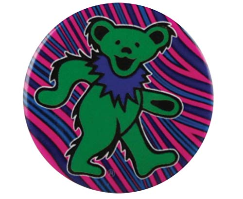 Green Dancing Bear - Grateful Dead Button - 1.25