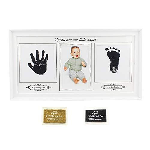 Newborn Baby Handprint Footprint Photos Keepsake Frame Kit