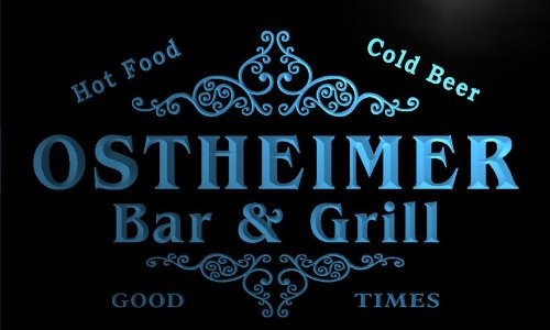 u33557-b OSTHEIMER Family Name Bar & Grill Home Brew Beer Neon Sign