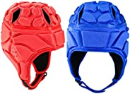 Fancyes 2X Adjustable Rugby Headguard Thick EVA Padding Scrum Cap Head Protect Guard Hat