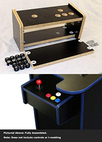 RetroArcade.us ra-Cabinet-Cock-ctr2 Cocktail Arcade Game Cabinet Replacement Controller Panel kit pre-drilled Complete Replacement, Price is per contr