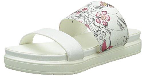 Initiale Saphir Damen Clogs Weiß - Blanc (Blanc/Fleurs)