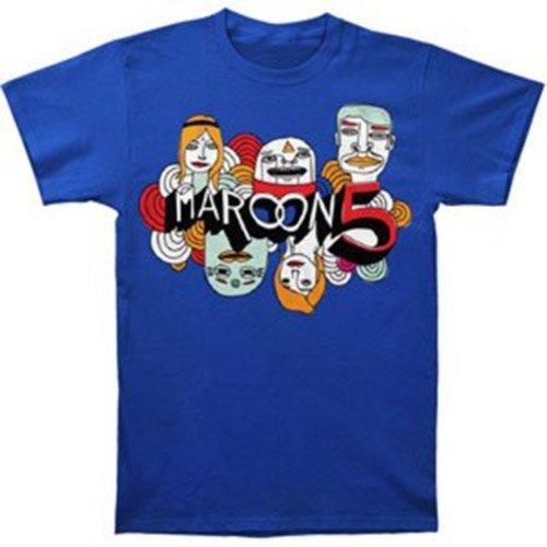 Maroon 5 Merchandise (Rockabilia Maroon 5 Cartoon Logo Slim Fit T-shirt X-Large)