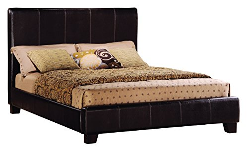 Homelegance 8155K-1CK* California King Size Upholstered Bed, Dark Brown Bi-Cast (Homelegance California King Bed)
