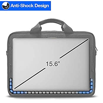 tomtoc Laptop Shoulder Bag, 15.6 Inch Laptop Briefcase Messenger Bag Case Sleeve Fits Up to 15 Inch MacBook 15.6 Inch Asus Acer Dell Lenovo HP Laptop